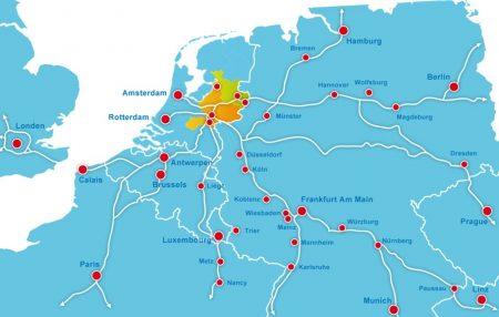 Oost NL international map.